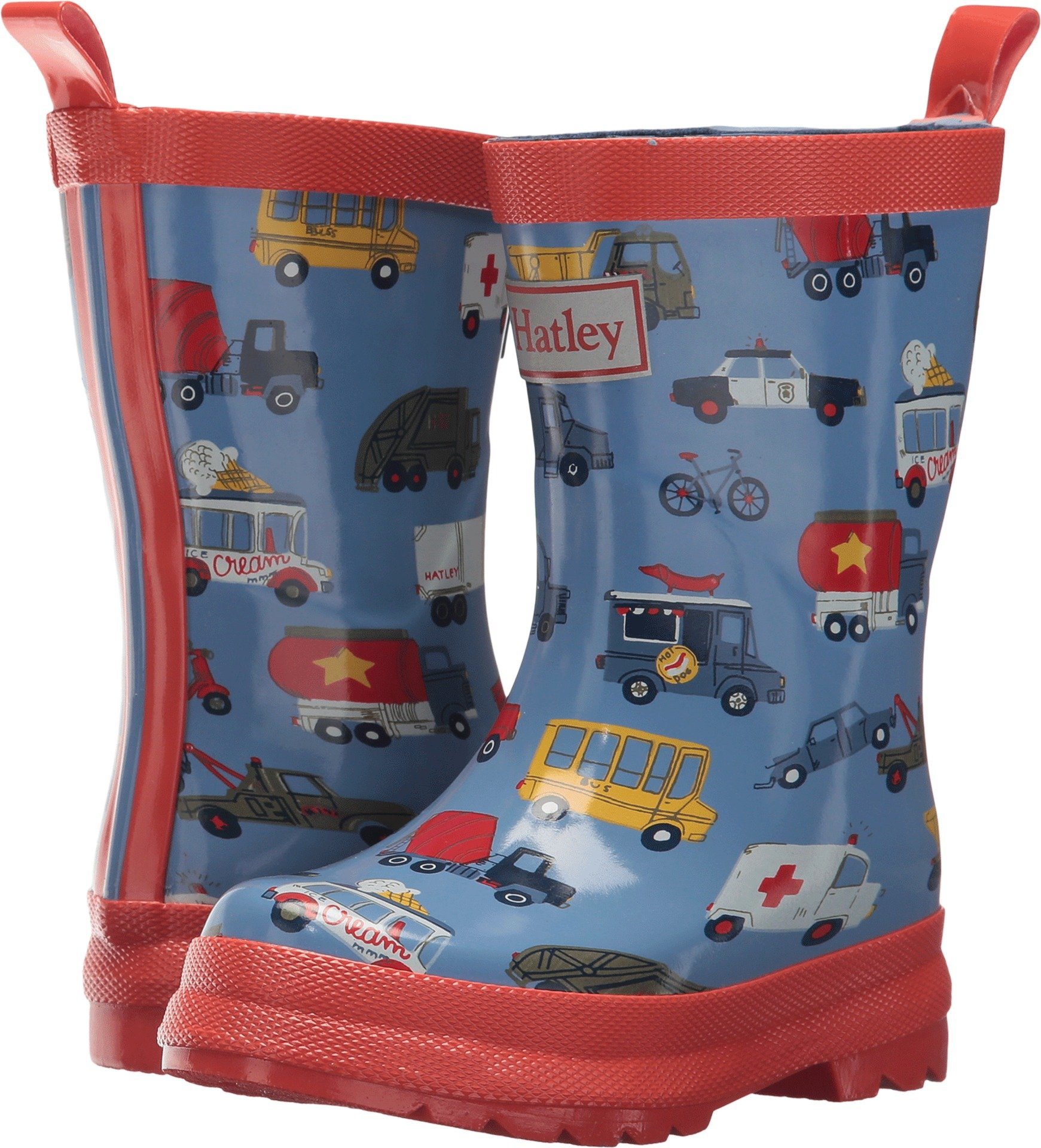 Hatley Kids Baby Boy's Rush Hour Rain Boots (Toddler/Little Kid) Rush Hour 13 M US Little Kid