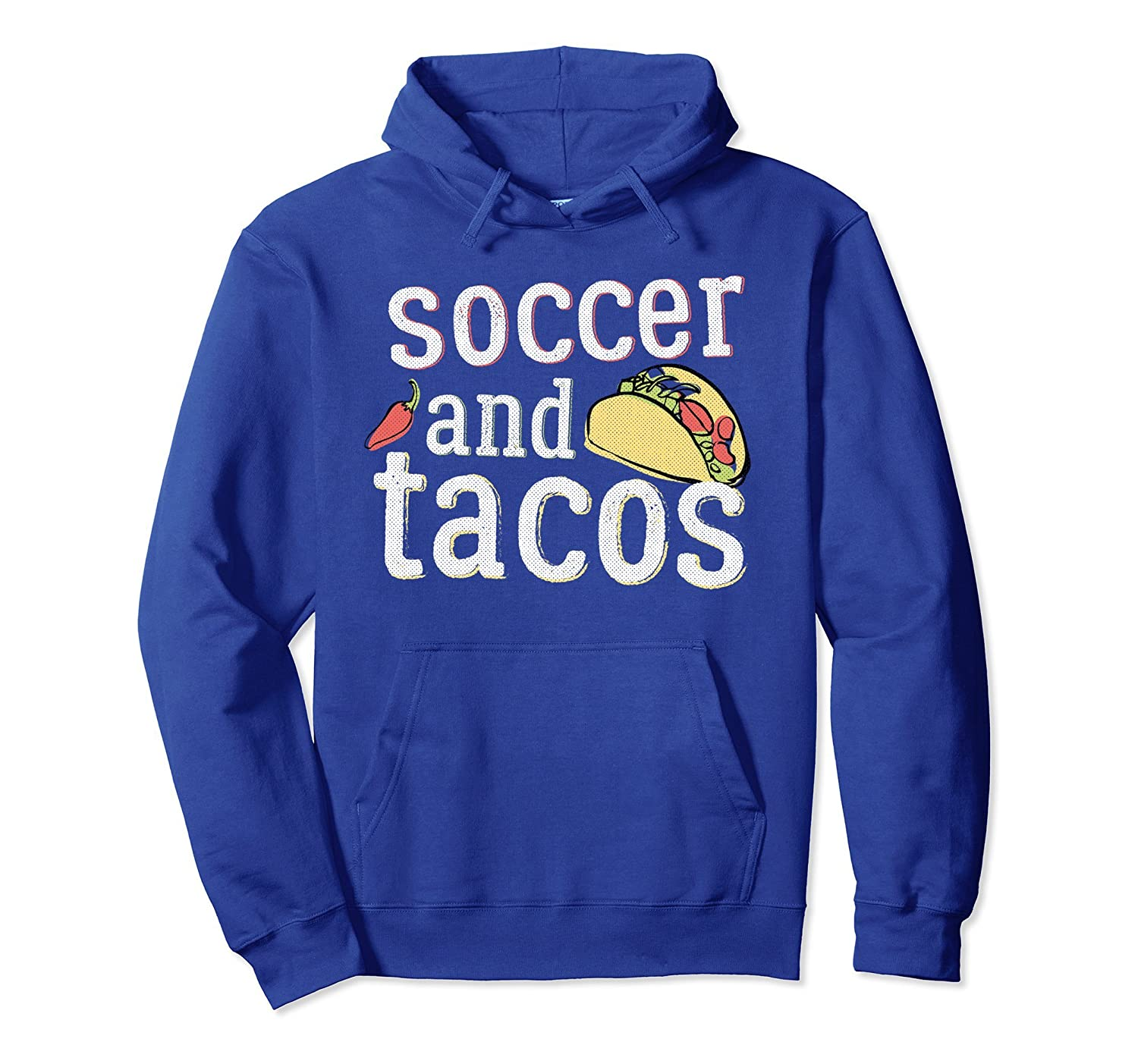 Tacos Soccer Hoodie for Futball, Funny Gift, White-alottee gift