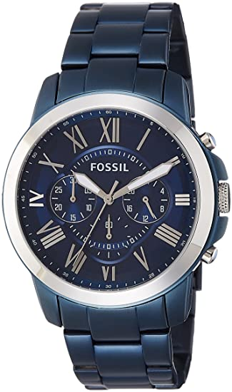 Fossil Men s Grant FS5230 Blue Stainless-Steel Japanese Quartz Fashion Watch 4091ec25b56