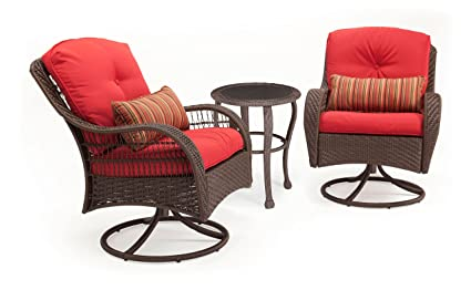 La-Z-Boy Outdoor Bristol Resin Wicker Bistro Patio Furniture Set (Scarlet  Red - Amazon.com: La-Z-Boy Outdoor Bristol Resin Wicker Bistro Patio