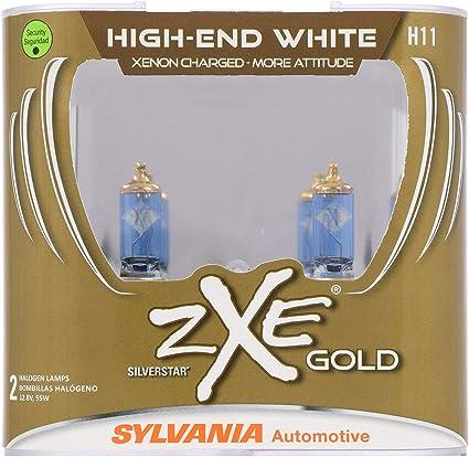 Sylvania Auto Bulb Guide >> Sylvania H11 64211 Silverstar Zxe Gold High Performance Halogen Headlight Bulb Headlight Fog Light Bright White Light Output Best Hid