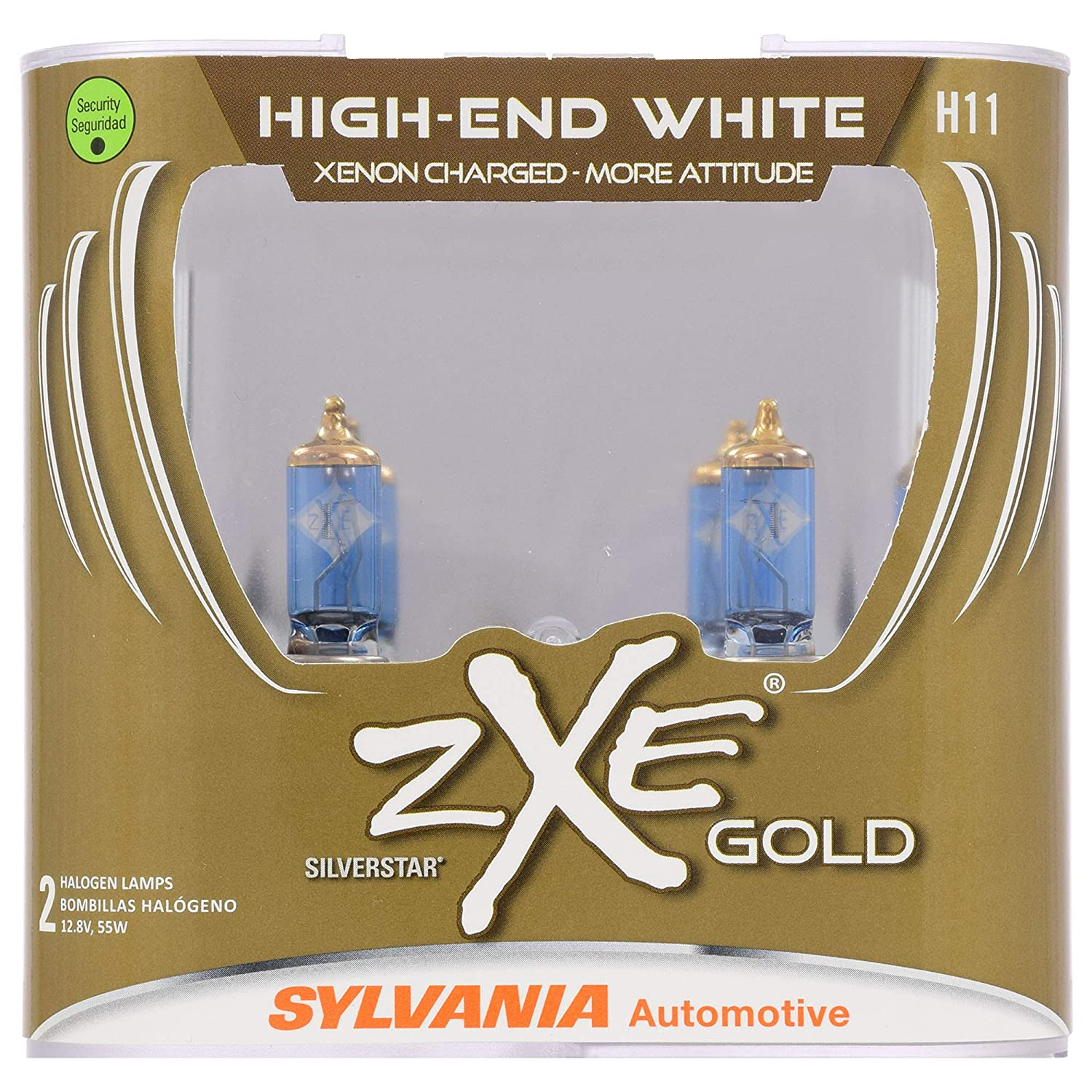 SYLVANIA - H11 (64211) SilverStar zXe GOLD High Performance Halogen Headlight Bulb - Headlight & Fog Light, Bright White Light Output, Best HID Alternative, ...