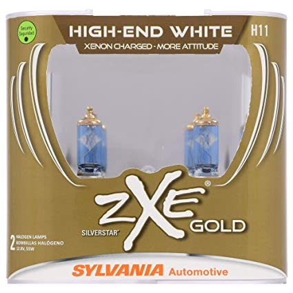 SYLVANIA - H11 (64211) SilverStar zXe GOLD High Performance Halogen Headlight Bulb - Headlight