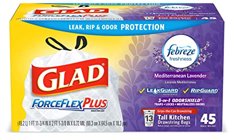 Amazon.com: Glad Force Flex olor Shield bolsas de basura ...
