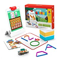 Osmo - Little Genius Starter Kit for iPad + Early Math Adventure - 6 Educational Learning Games - Ages 3-5 - Counting, Shapes, Phonics & Creativity iPad Base Included (Amazon Exclusive)