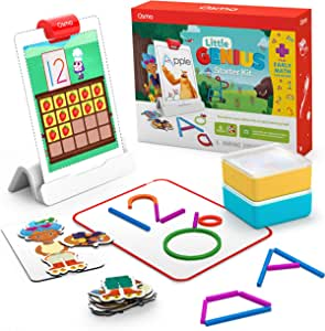 Osmo - Little Genius Starter Kit for iPad + Early Math Adventure - 6 Educational Learning Games - Ages 3-5 - Counting, Shapes, Phonics & Creativity (Osmo iPad Base Included) (Amazon Exclusive)