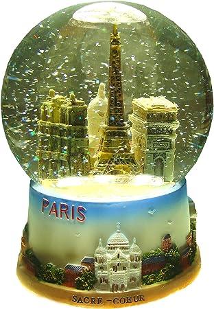 Pot /à Crayons avec Boule /à Neige Paris Rose Souvenirs de France