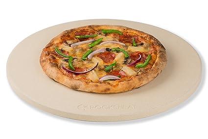 "Rocksheat 14.2""X 0.6"" Round Cordierite Pizza Stone by K Rocksheat"