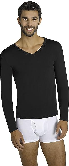 camiseta térmica hombre manga larga negra: Amazon.es: Deportes y aire libre