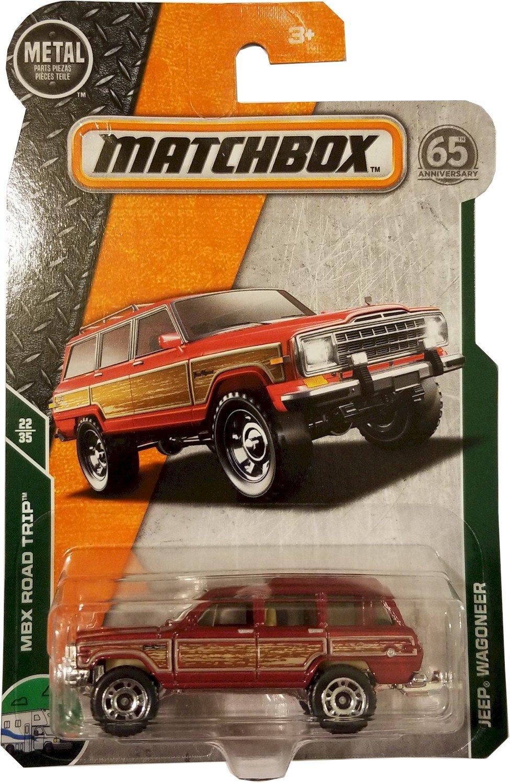 Matchbox 2018 MBX Road Trip 22//35 Red Mattel Jeep Wagoneer