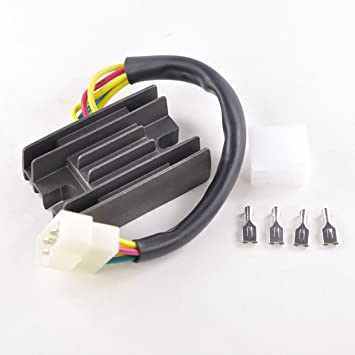 Voltage Regulator Rectifier Fits Suzuki LT 160 Quad Runner LTF 250  Quadrunner 300 KingQuad LT-F4 King Quad 1987-2004 | OEM Repl # 32800-19B00  /