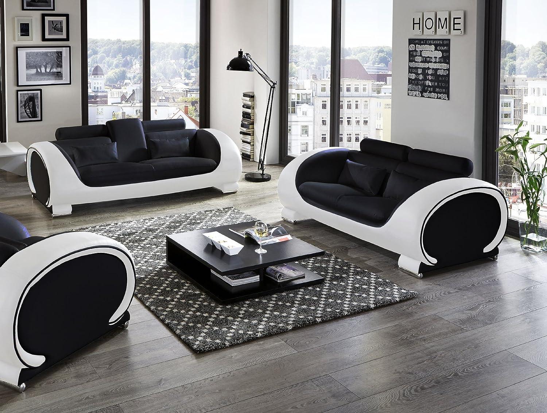 Einzigartig Sofa Garnitur 3 Teilig Leder Das Beste Von Sam® Design Vigo 2 In Schwarz Weiß