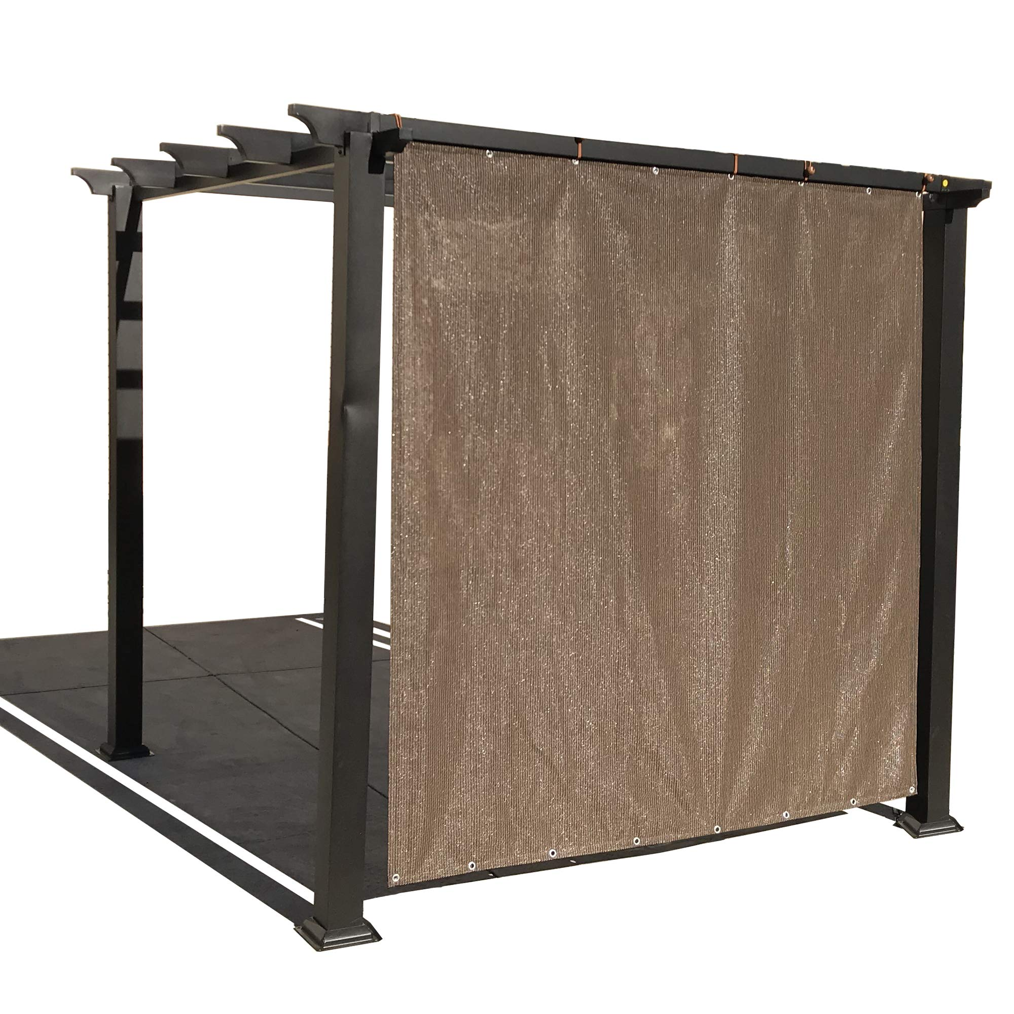 Alion Home Sun Shade Privacy Panel with Grommets on 2 Sides for Patio, Awning, Window, Pergola or Gazebo - Mocha Brown (8' X 8')