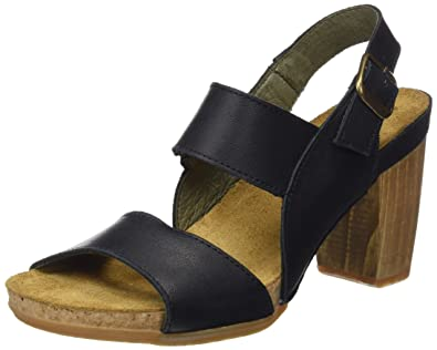 Womens N5022 Ibon Kuna Open Toe Heels, Black El Naturalista