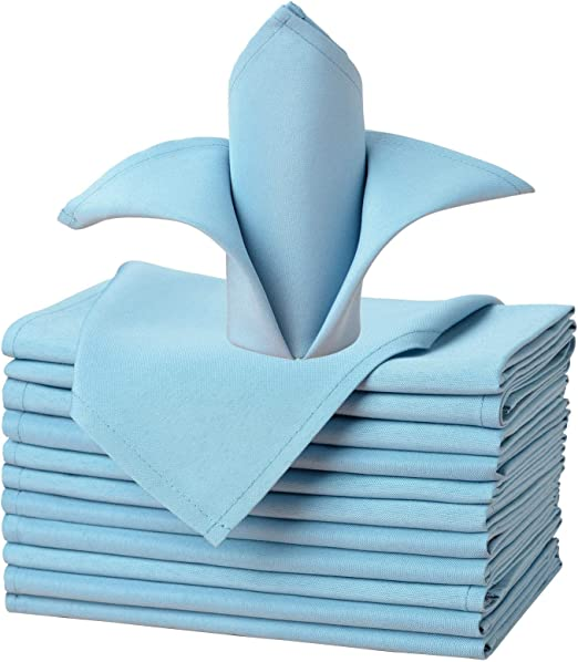 """100 pcs 17/""""x17/"""" or 20/""""x20/"""" Polyester Cloth Linen Dinner Napkins w or w//o Rings"""