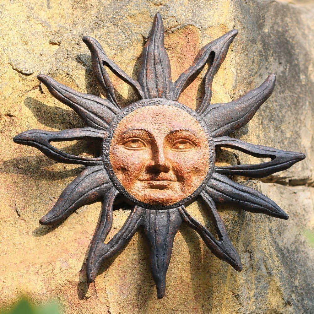 Spi Home 32419 Sun Face Wall Plaque Garden Outdoor