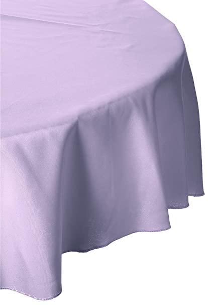 LinenTablecloth 132 Inch Round Polyester Tablecloth Lavender