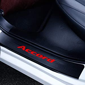 Stroller Car Accessories, Honda Sticker, Car Door Threshold Protector,Car Interior Accessories Cover Existing Scratch and Door Anti Scratch Carbon Fiber Sticker fit for Honda Accord(Red)