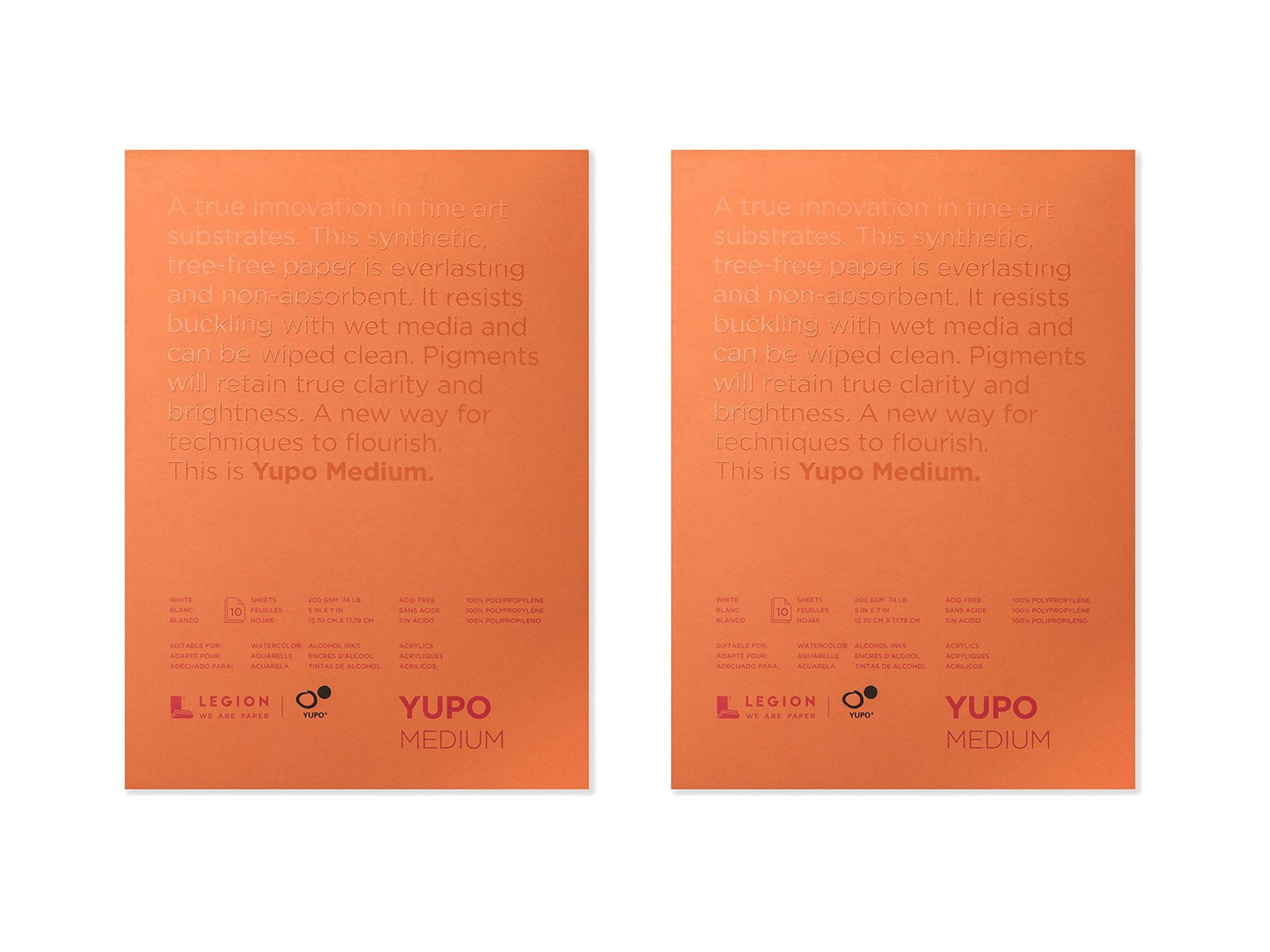2 Pack of 10 Sheets Legion Paper Yupo 5 X 7 inches White Watercolor Pad bundled by Maven Gifts
