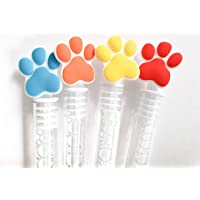 Puppy Paws Bubbles Party Favors, Celebrations Birthday Supplies Girls Boys Gift Kids Clear Mini Bottle Wands Non Toxic…