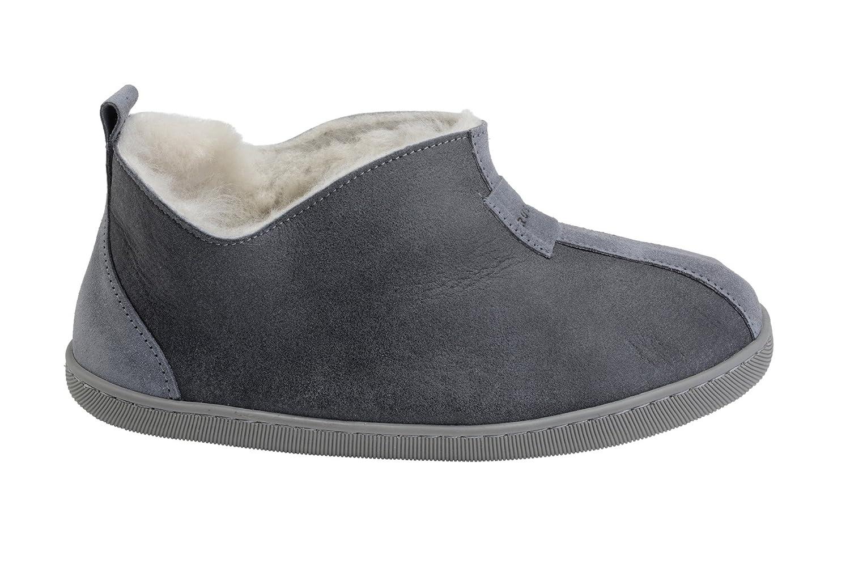 Vogar 17559 Femmes Luxe Peau de Chaud Mouton/ Pantoufles Chaussons Chaussures avec Doublure Chaud Laine B002 Gris/ Blanc c6c7372 - digitalweb.space