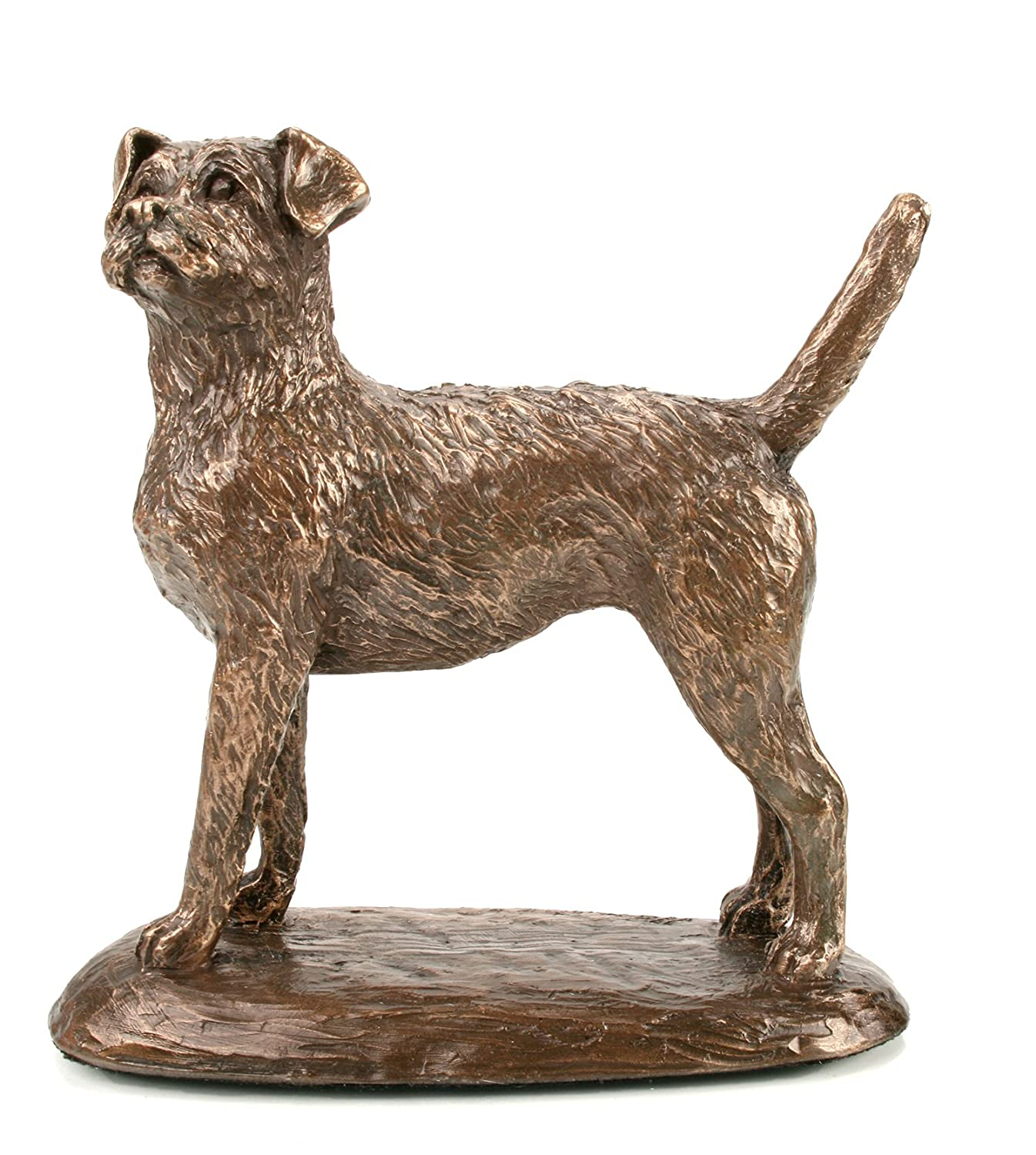 Border Terrier Cold Cast Bronze Sculpture by Harriet Glen