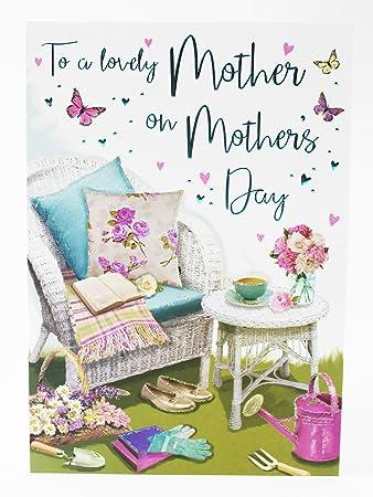 Happy Mothers Day Special Gedicht traditionellen Gruß Karte Glitzer ...