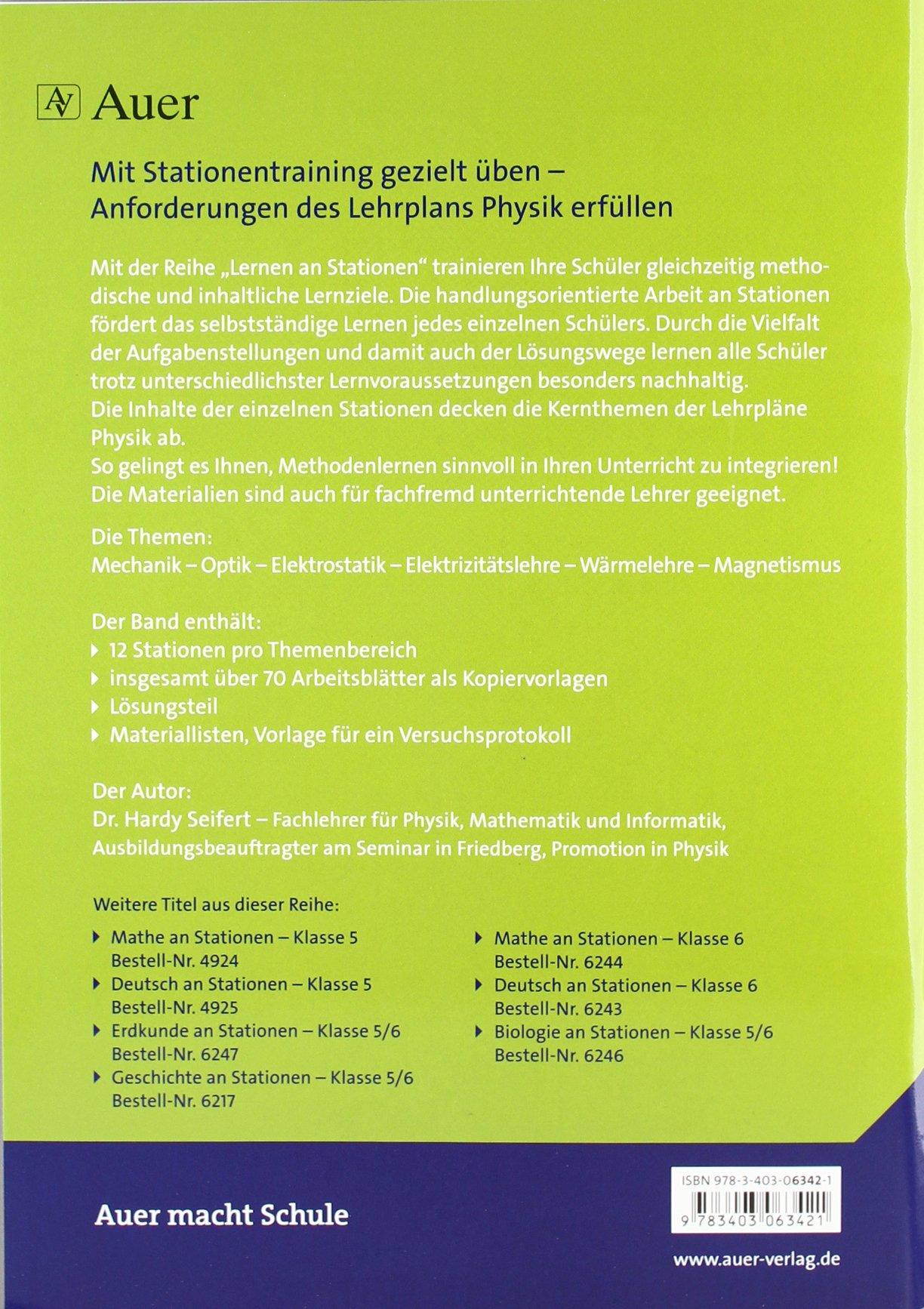 Physik an Stationen: Übungsmaterial zu den Kernthemen des Lehrplans ...