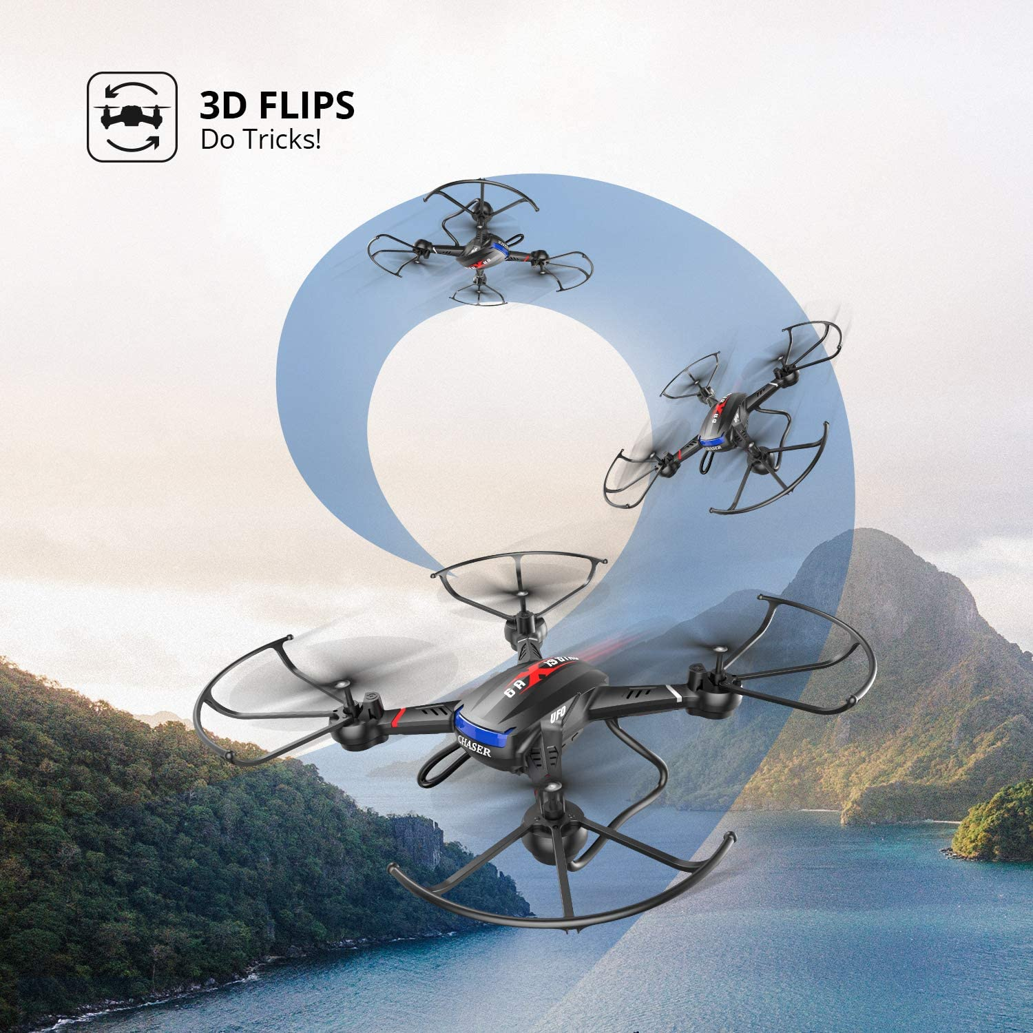 Holy Stone F181W WIfi Fpv Drone review about 3d flips and stunts