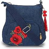 Pick Pocket Girls Sling Bag (Blue) (slRedflwremb228)
