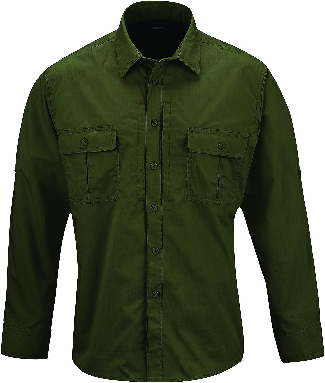 Propper Kinetic - Camisa de Manga Larga para Hombre, Hombre, F5371, Verde Oliva, 3XL