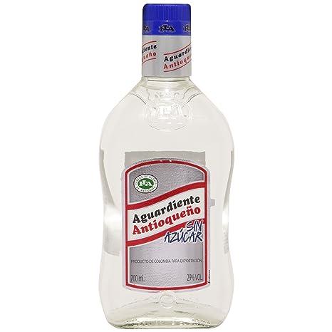 aguardiente  antio Queno Aguardiente sin Azucar, 1er Pack (1 x 700 ml):  ...