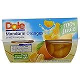 DOLE FRUIT BOWLS, Mandarin Oranges in 100% Fruit Juice, 4 Ounce (4 Cups)