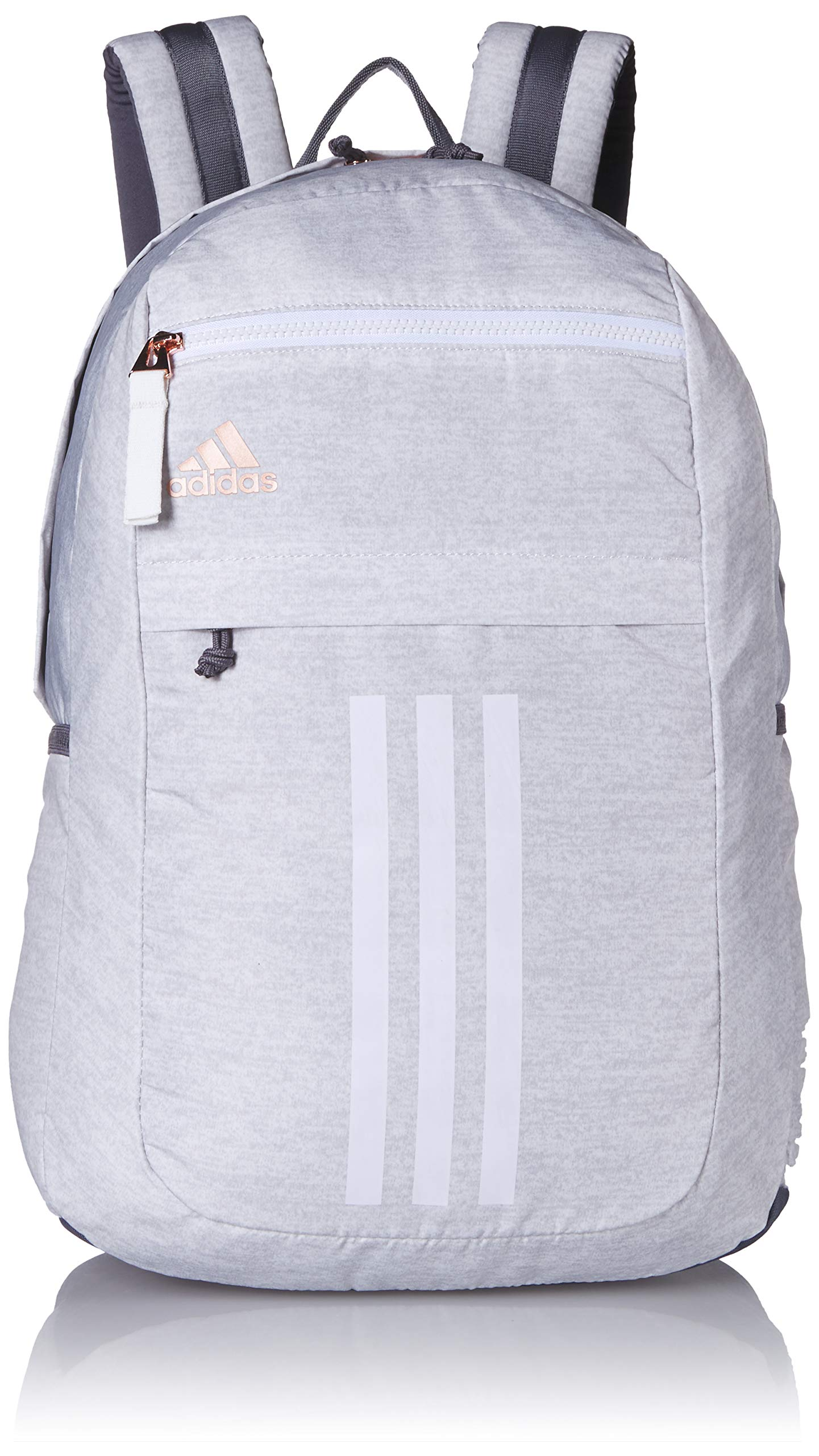 adidas Unisex League 3 Stripe Backpack, Jersey White/Rose Gold, ONE SIZE by adidas