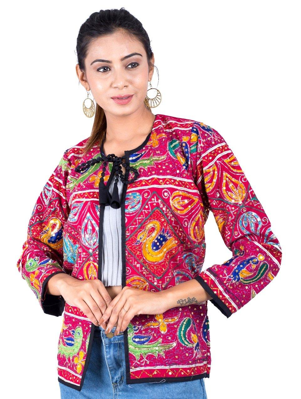 Megh Craft Fashion Wear Zari Work Banjara Jacket,Vintage Style Waist Coat