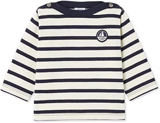Petit Bateau Baby-Jungen Langarmshirt 2er Pack