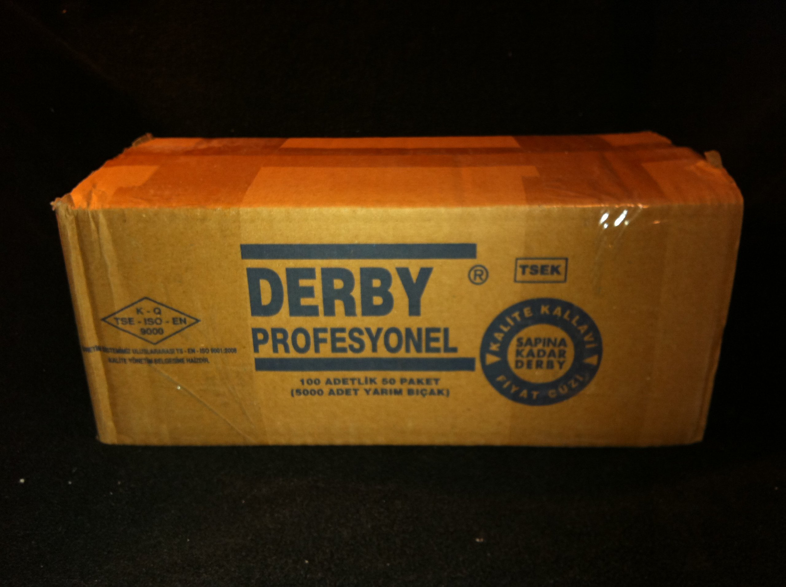 5000 ''Derby Professional'' Single Edge Razor Blades for straight razor