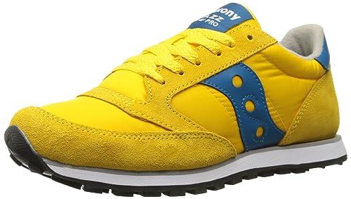saucony jazz low pro yellow blue
