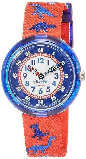 Flik Flak Reloj Analógico para Nios de Cuarzo con Correa en Tela FBNP117: Amazon.es: Relojes