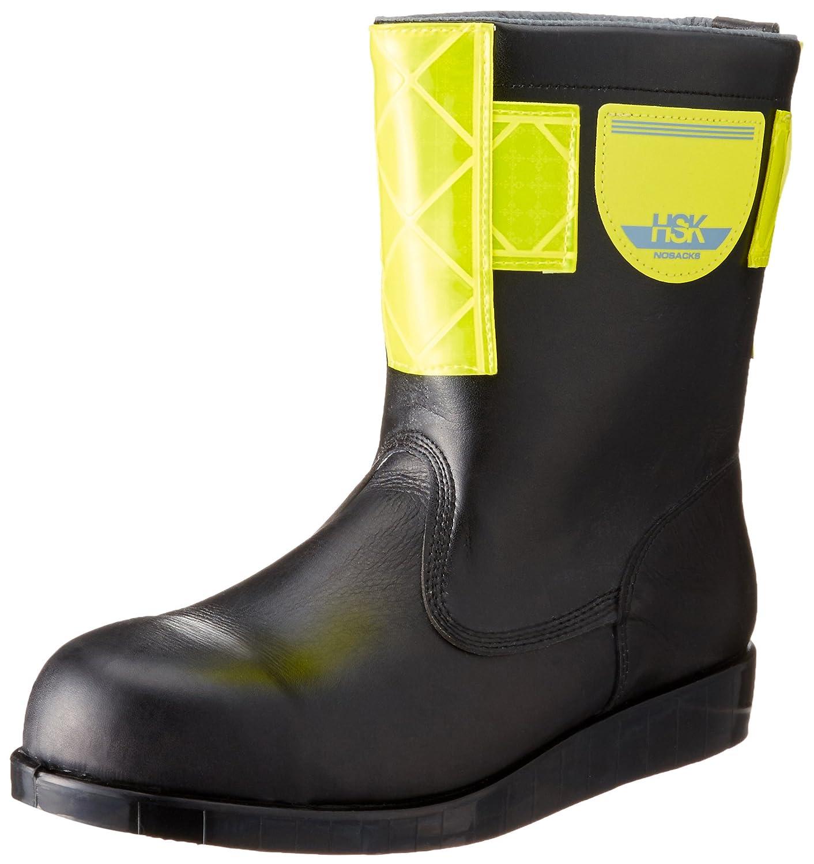 [ノサックス] Nosacks 舗装靴 HSK208 半長靴 高輝度反射付 黄色 B0191FK4UU ブラック JP JP25.5cm(25.5cm)