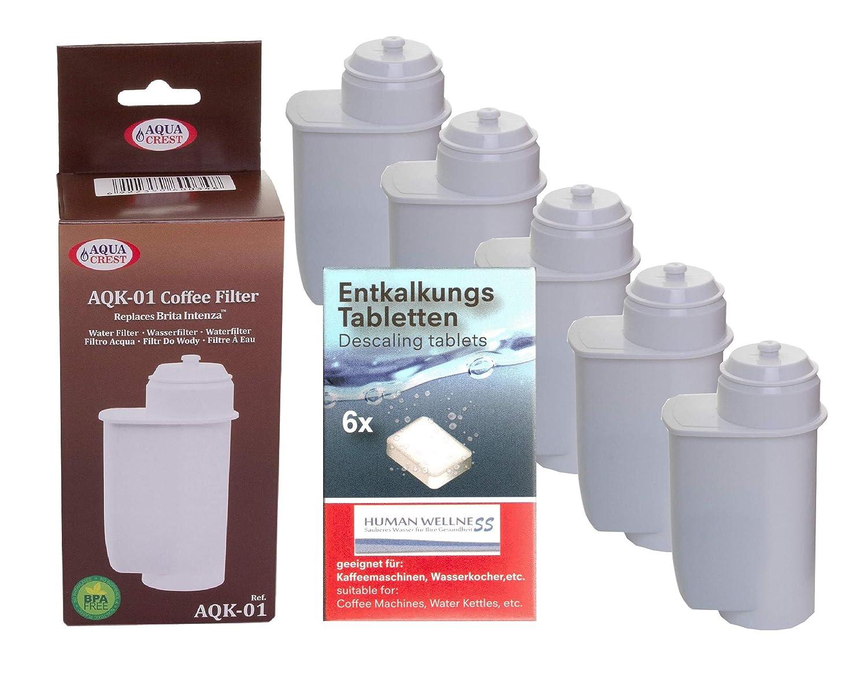 Human-Wellness 5 x aqk Filtro de Agua 01 sustituir Brita Intenza ...