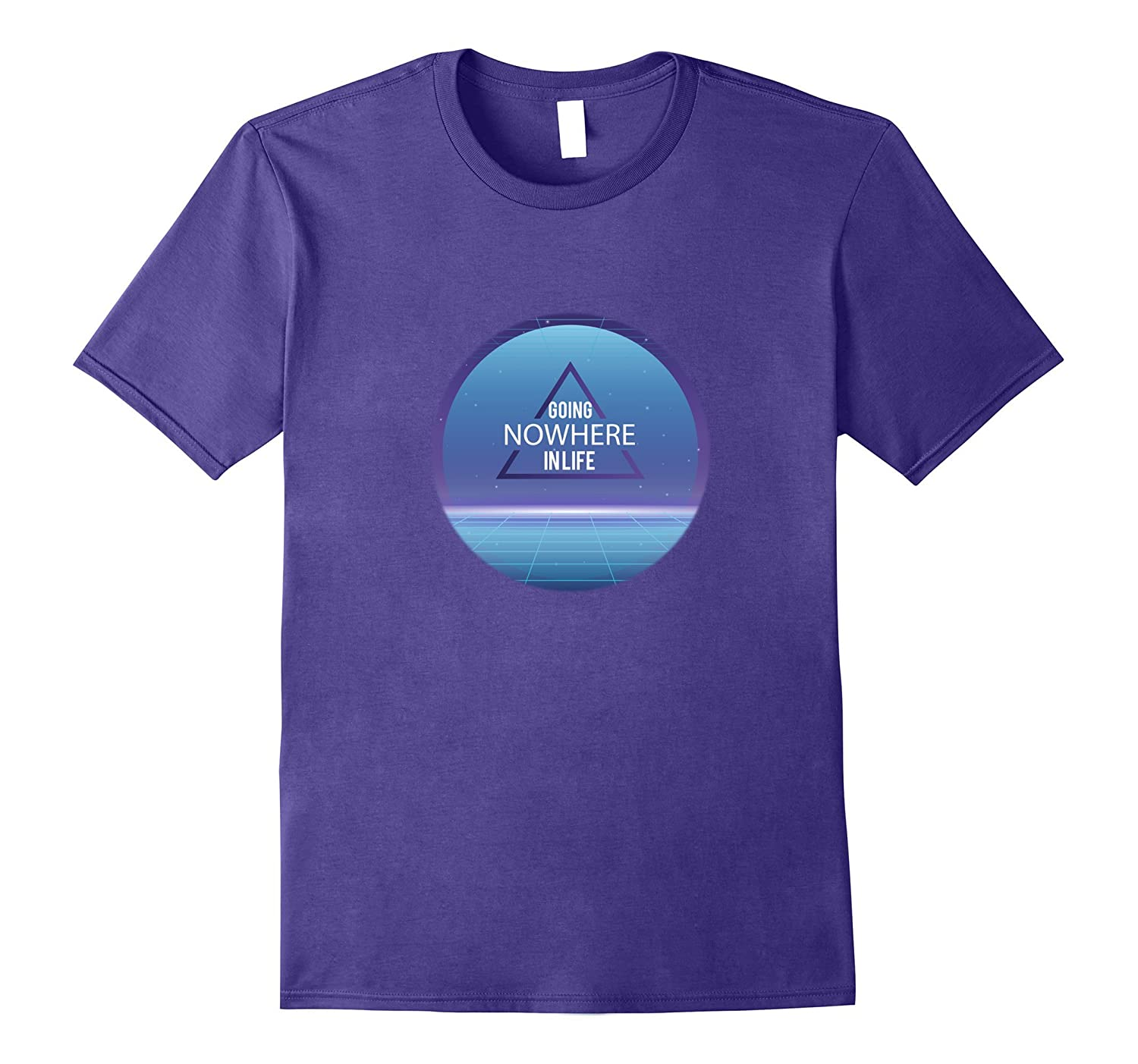 Going nowhere in life - Vaporwave Aesthetic Triangle Tshirt-TH