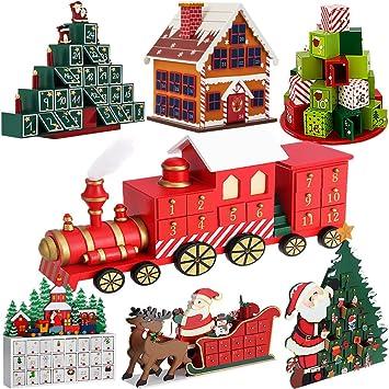 Adventskalender Zum Befüllen Lokomotive DIY ✓ Holz ✓ Befüllbar U0026  Wiederverwendbar ✓ Holzadventskalender Weihnachtsdeko Holzboxen Deko