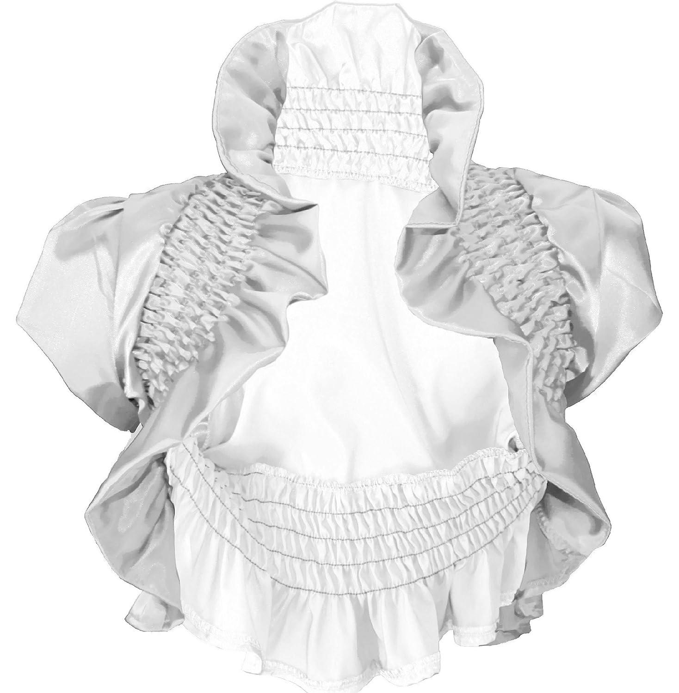 #900 Damen Luxus Satin Bolero Abendkleid kurzarm Jäckchen Jacke Farben Schwarz Weiss Gold Pink 36 38 40