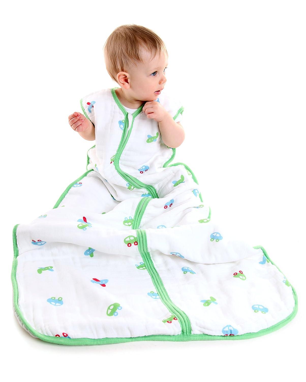 Slumbersac Baby Muslin Summer Sleeping Bag for Boys (12-36 Months, 0.5 Tog, Cars) A-SM-Cars-05-3