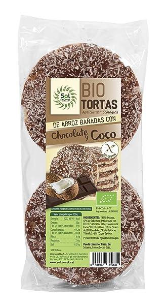 Sol Natural Tortas de Arroz Bañadas con Chocolate y Coco ...