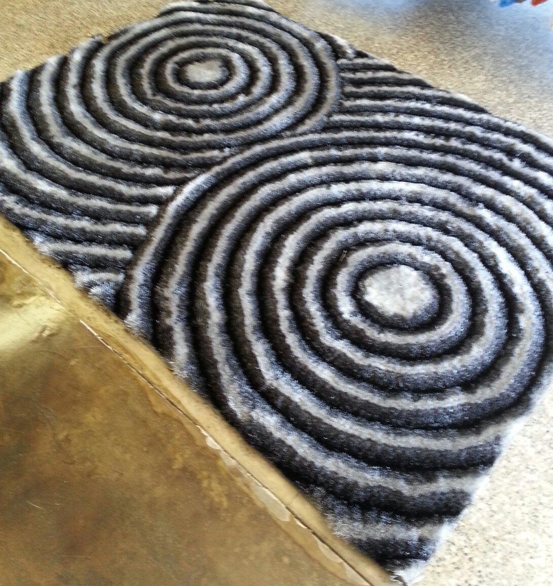 Amazon.com: RUGADDICTION Hermosa alfombra Color Gris hecha a mano estilo moderno suave y lujosa , gruesa pila de tamaño 60
