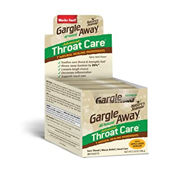 Gargle Away Advanced Throat Care, 20-PK | Natural cold throat remedy | Sore  Throat Relief |