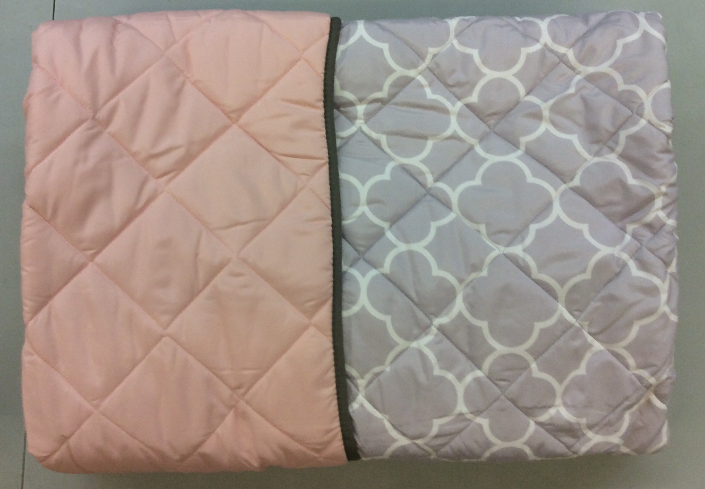 NEW FREE GRAY/PINK TEENS GIRLS REVERSIBLE COMFORTER SET 3 PCS TWIN SIZE by JORGE'S HOME FASHION (Image #3)