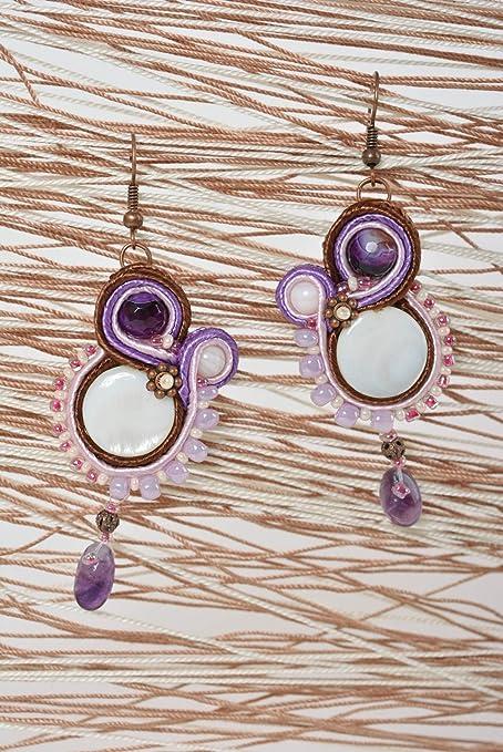 c16b35e6680d Pendientes largos hechos a mano bisuteria original regalos para mujer